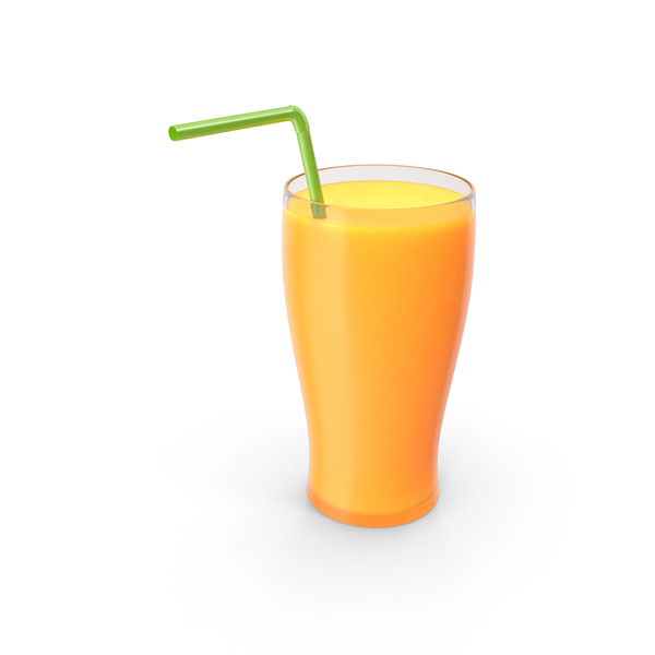 Glass with Orange Juice PNG & PSD Images