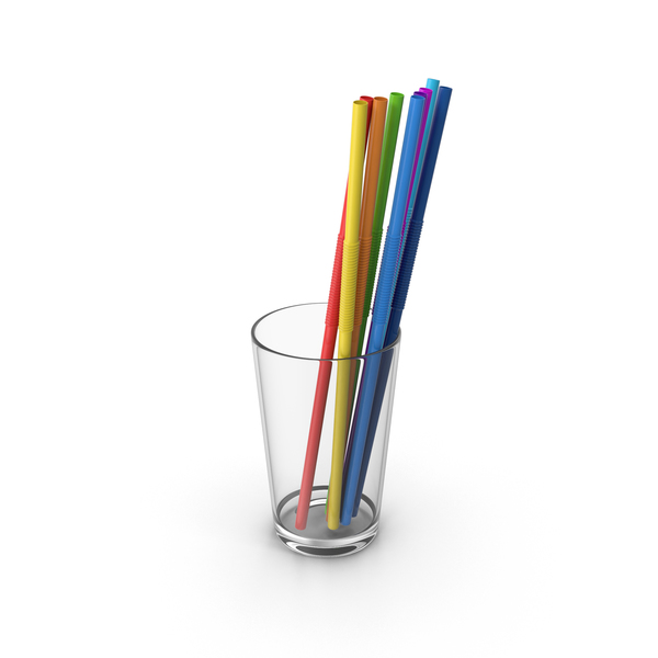 Glass With Straws PNG & PSD Images