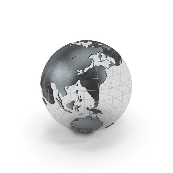 Globe Black Metal PNG & PSD Images