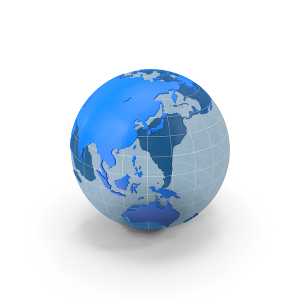 Globe Blue and White PNG & PSD Images