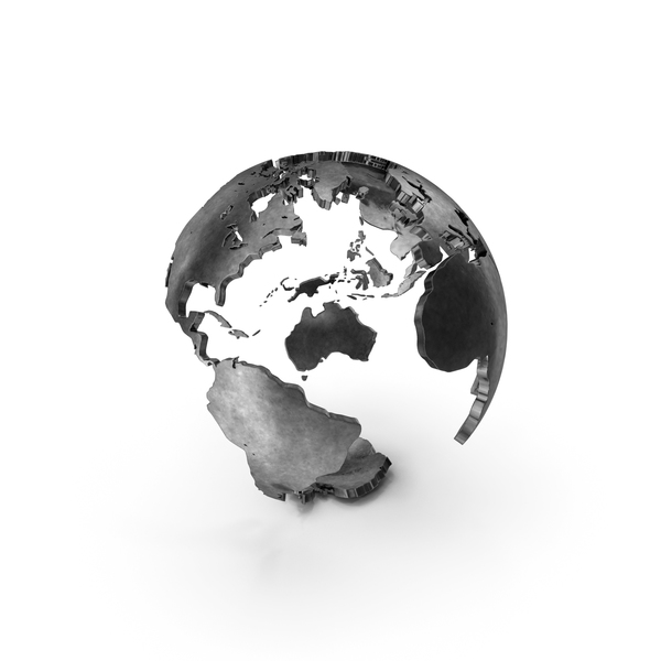 Globe with Continents PNG & PSD Images