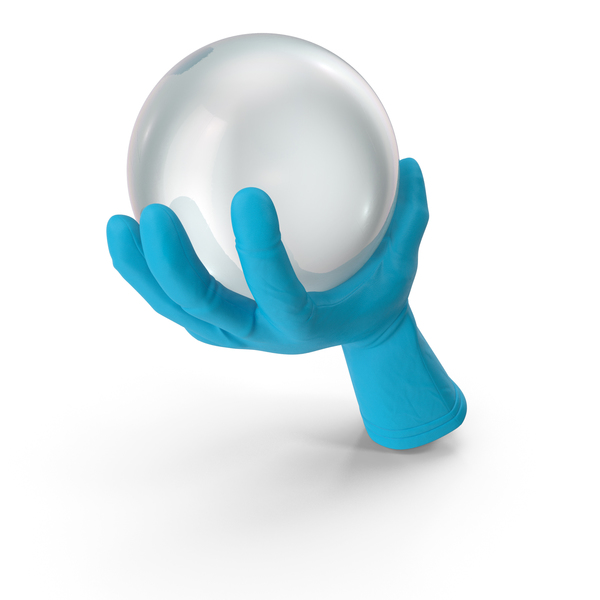 Glove Holding a Crystal Ball PNG & PSD Images
