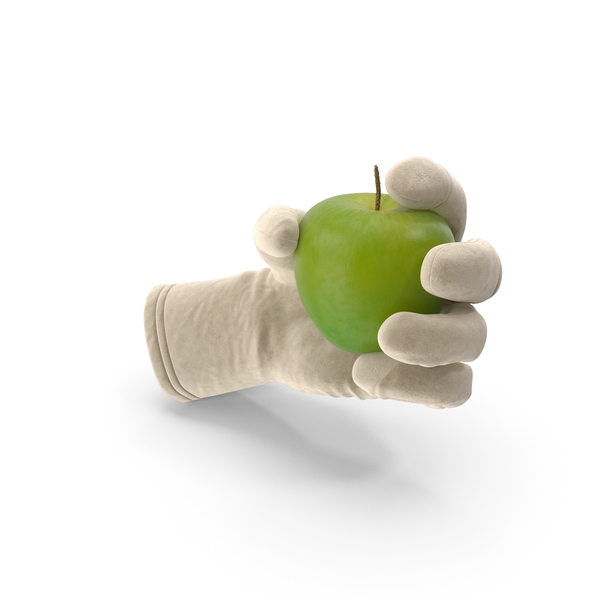 Glove Holding a Green Apple PNG & PSD Images
