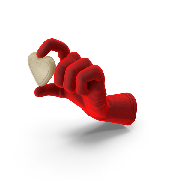 Gloves: Glove Holding a Gummy Heart PNG & PSD Images