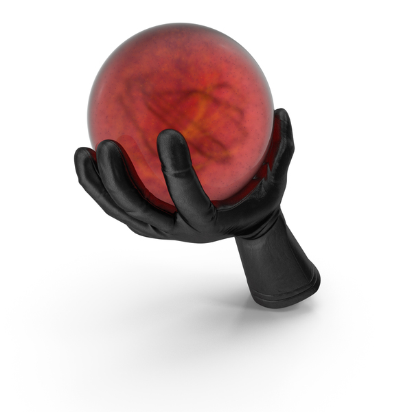 Glove Holding a Sorcerer Ball PNG & PSD Images