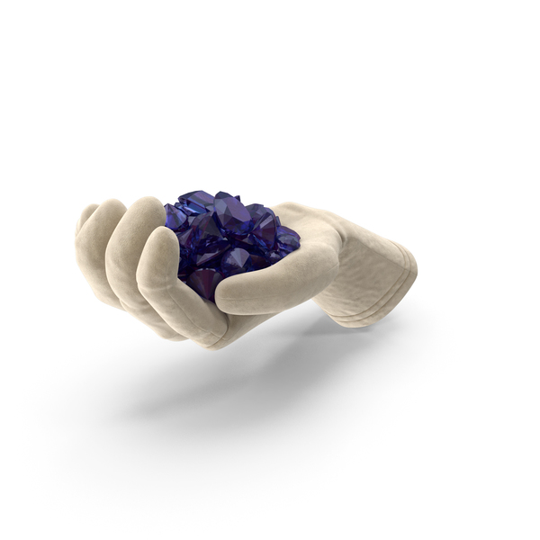 Hand: Glove Holding Amethyst Diamonds PNG & PSD Images