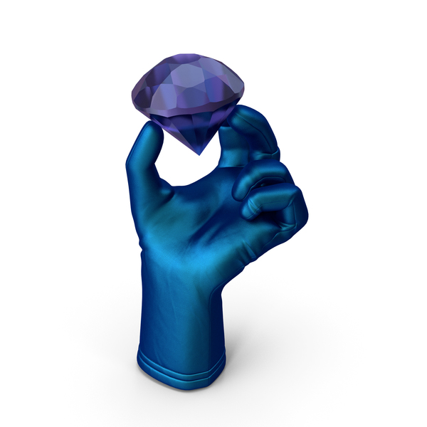 Hand: Glove Holding an Amethyst Diamond PNG & PSD Images