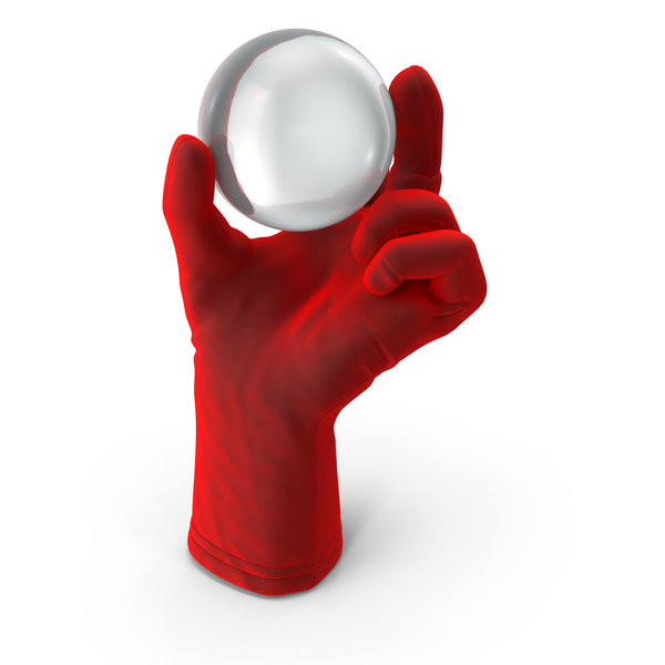 Leather Gloves: Glove Holding Crystal Ball PNG & PSD Images