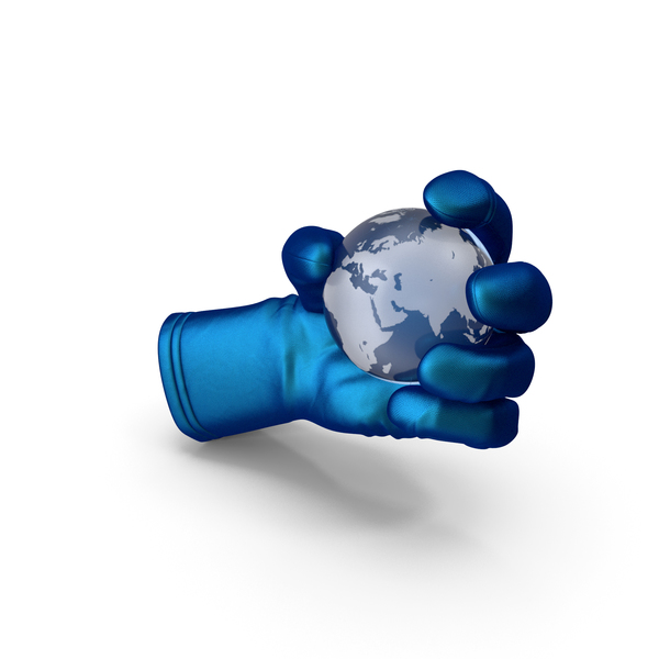 Globe Shape: Glove Holding  Crystal Earth PNG & PSD Images