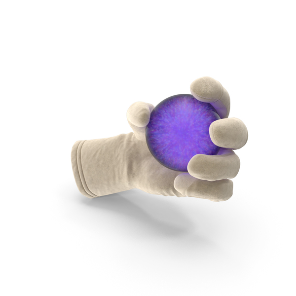 Glove Holding Purple Crystal Ball PNG & PSD Images