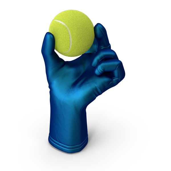Glove Holding Tennis Ball PNG & PSD Images