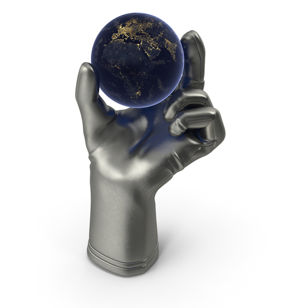 Glove Holding Tiny Night Earth PNG & PSD Images