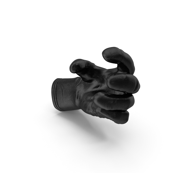 Glove Leather Small Sphere Object Hold Pose PNG & PSD Images