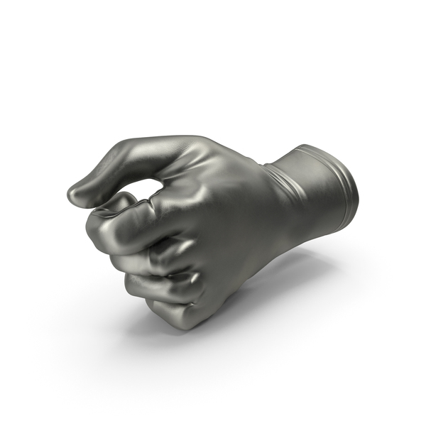 Glove Metallic Thumb Object Hold Pose PNG & PSD Images
