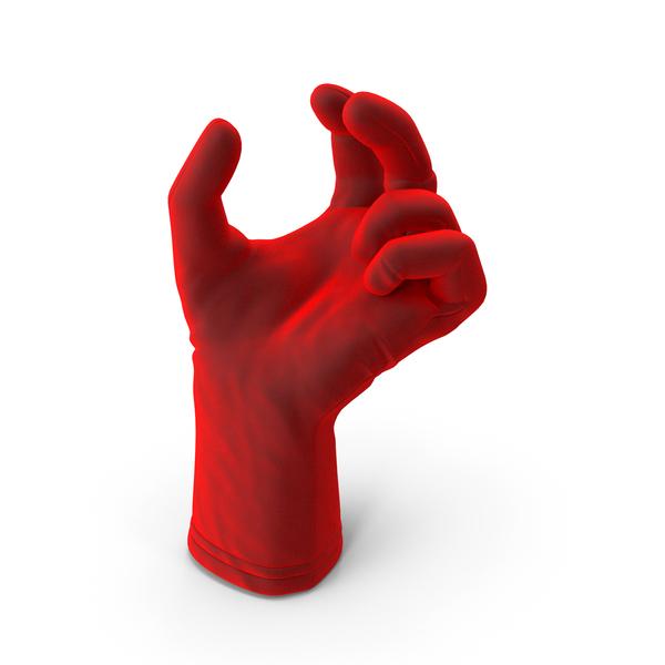 Glove Velvet Upwards Object Hold Pose PNG & PSD Images
