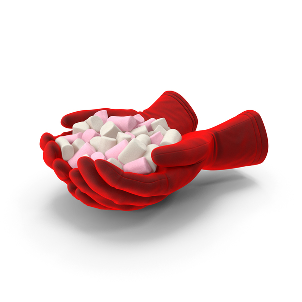 Gloves Handful With Marshmallows PNG & PSD Images