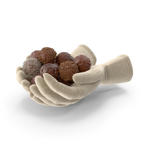 Gloves Holding Chocolate Balls PNG & PSD Images