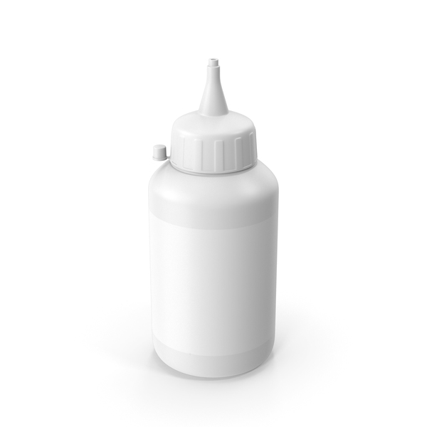 Glue Bottle White PNG & PSD Images