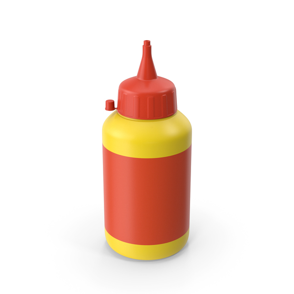 Glue Bottle Yellow PNG & PSD Images