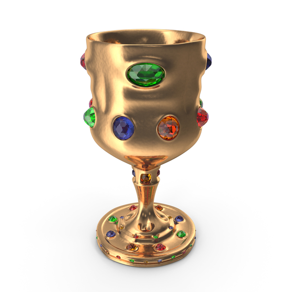 Goblet with Mixed Gems PNG & PSD Images