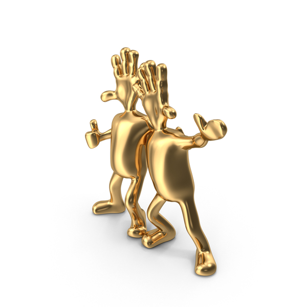 Gold Abstract Figurine Friends PNG & PSD Images