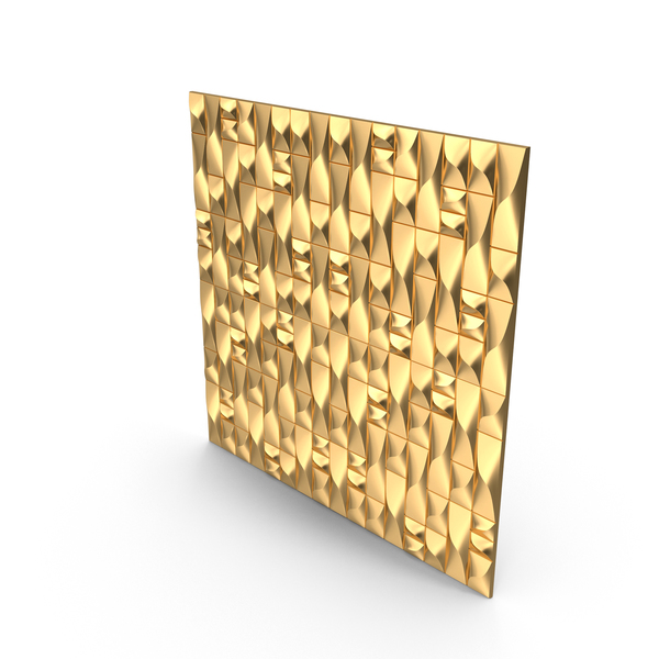 Panelling: Gold Abstract Panel Wall PNG & PSD Images