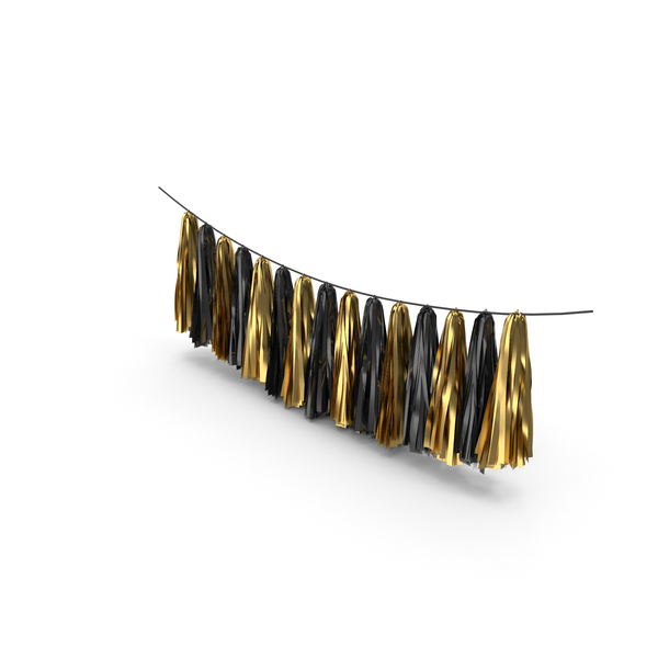 Gold and Black Tassel Garland PNG & PSD Images