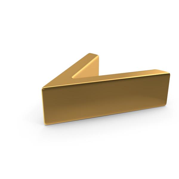 Gold Angle Bracket Symbol PNG & PSD Images