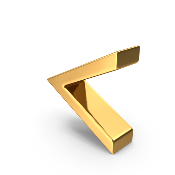 Mathematical Symbols: Gold Angle Bracket Symbol PNG & PSD Images