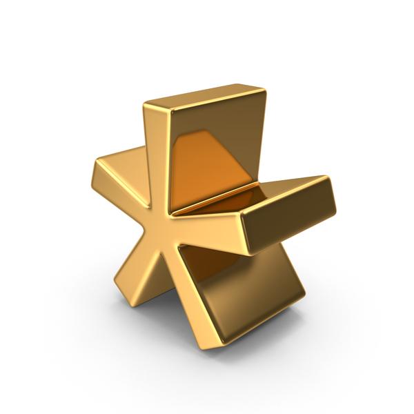 Language: Gold Asterisk Symbol Object