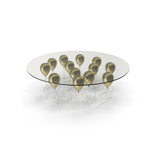 Gold Balloon Coffee Table PNG & PSD Images