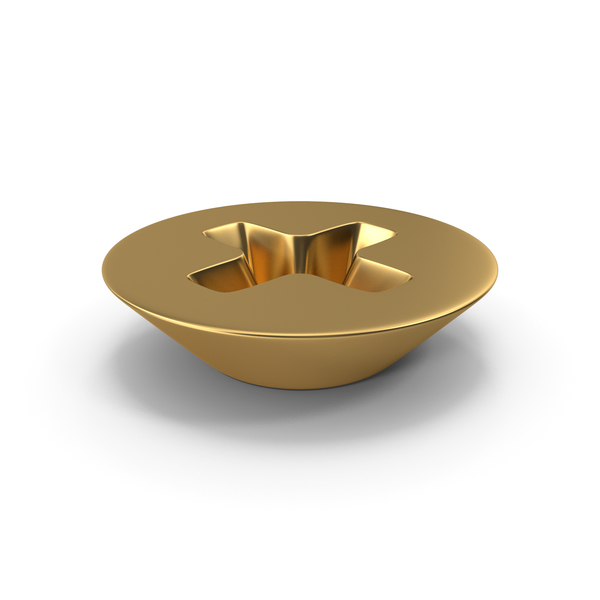 Gold Bolt Head PNG & PSD Images