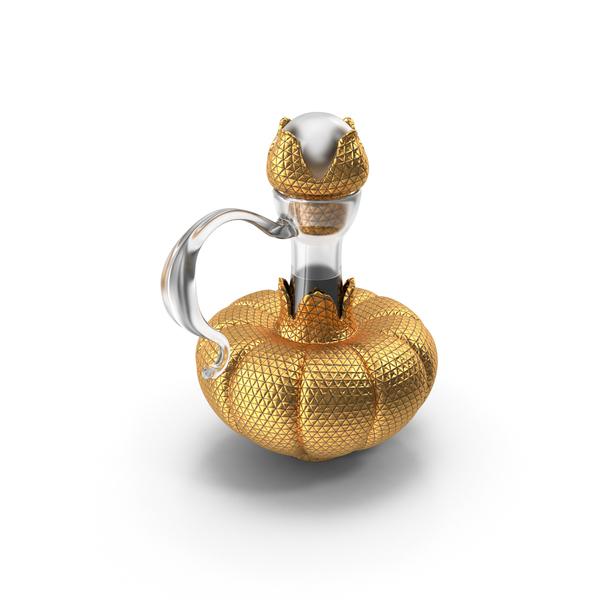 Gold Bottle PNG & PSD Images
