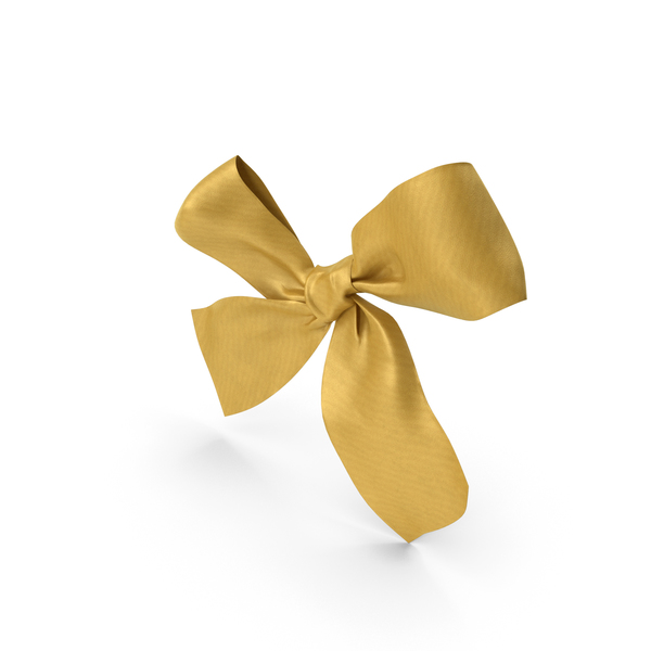 Gift: Gold Bow PNG & PSD Images