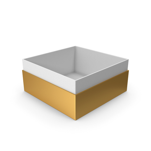 Cardboard: Gold Box No Cap PNG & PSD Images