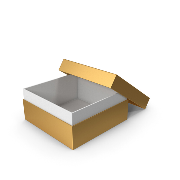 Cardboard: Gold Box Opened PNG & PSD Images