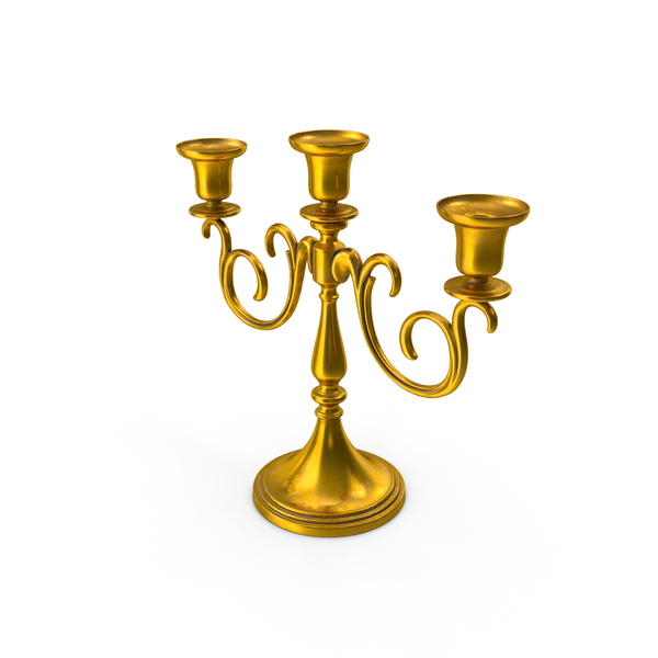 Gold Candlestick PNG & PSD Images