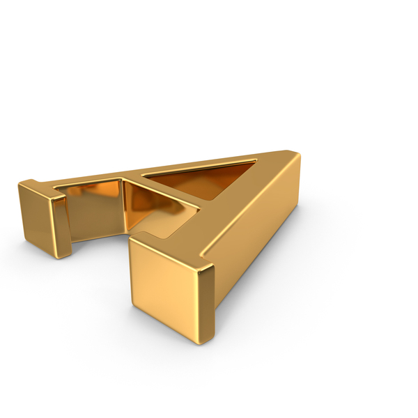 Gold Capital Letter A Object