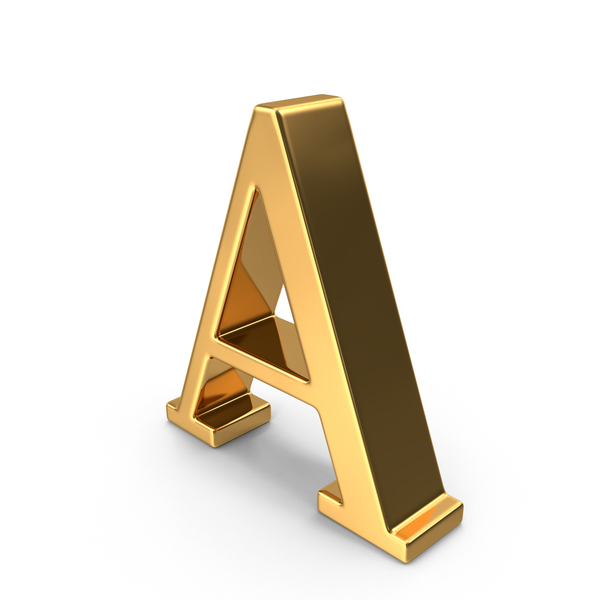 Gold Capital Letter A PNG & PSD Images
