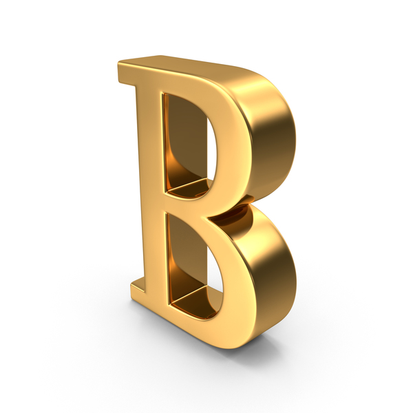 Gold Capital Letter B Object