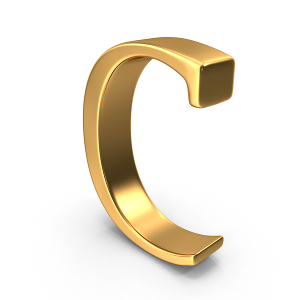 Language: Gold Capital Letter C PNG & PSD Images
