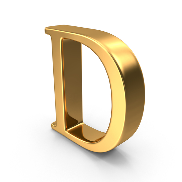Gold Capital Letter D PNG & PSD Images