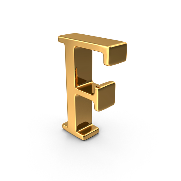 Language: Gold Capital Letter F PNG & PSD Images