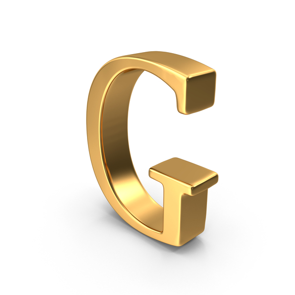 Language: Gold Capital Letter G PNG & PSD Images
