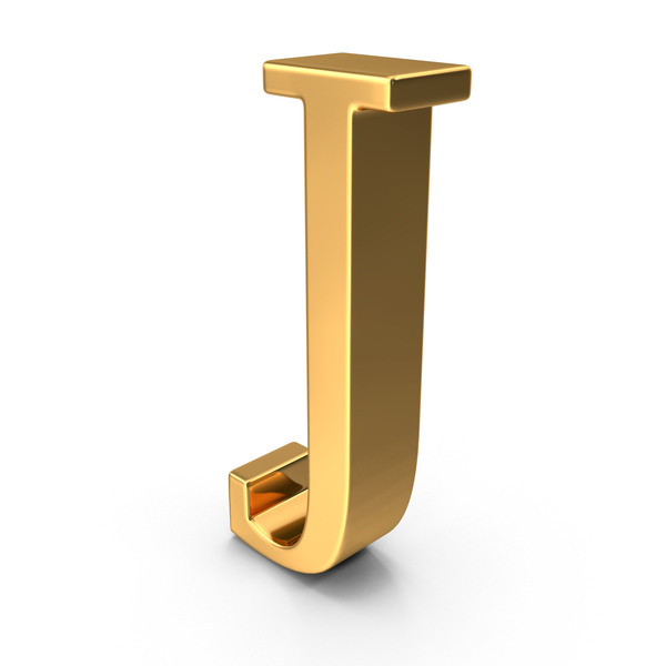 Gold Capital Letter J PNG & PSD Images