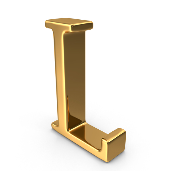 Language: Gold Capital Letter L Object