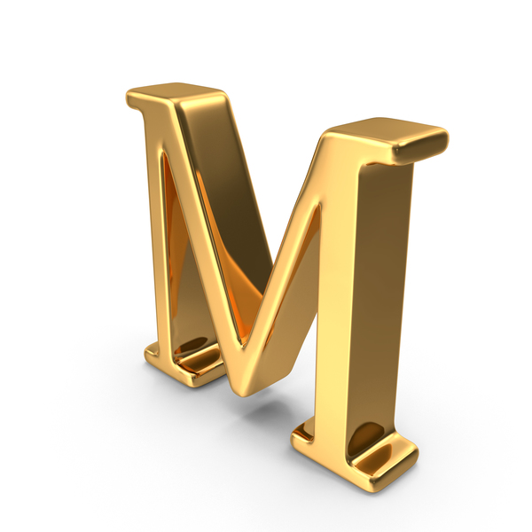 Gold Capital Letter M PNG & PSD Images