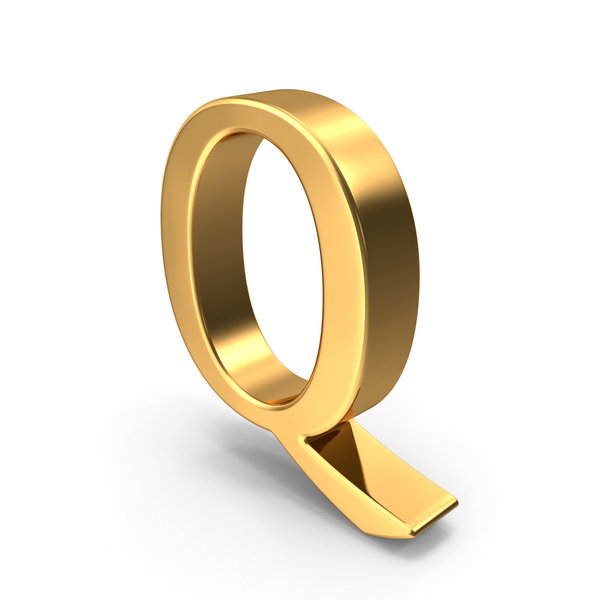 Gold Capital Letter Q PNG & PSD Images