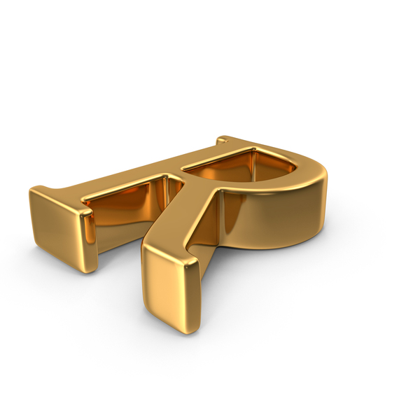 Gold Capital Letter R PNG & PSD Images