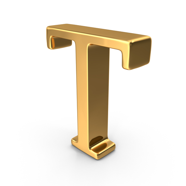 Language: Gold Capital Letter T PNG & PSD Images
